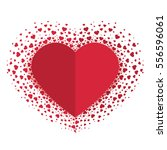 vector decoration heart ...   Shutterstock .eps vector #556596061