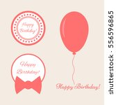 a set of elements with text... | Shutterstock .eps vector #556596865