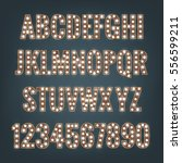 alphabet with light bulbs.... | Shutterstock .eps vector #556599211