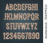 alphabet with light bulbs.... | Shutterstock .eps vector #556599211