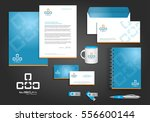 cyan  blue orange digital tech... | Shutterstock .eps vector #556600144