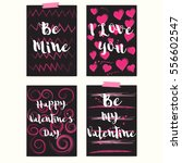 set of greeting cards or... | Shutterstock .eps vector #556602547