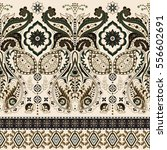border indian floral paisley... | Shutterstock .eps vector #556602691