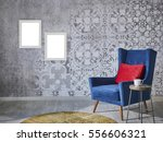 beautiful grey wall with... | Shutterstock . vector #556606321