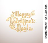 happy valentine's day card.... | Shutterstock .eps vector #556606585
