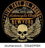 motorcycle typography  t shirt... | Shutterstock .eps vector #556609984