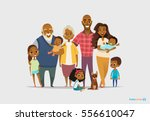 big happy family portrait.... | Shutterstock .eps vector #556610047