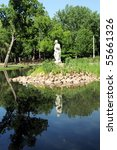 statue in the park wamego... | Shutterstock . vector #55661326