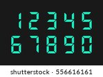 turquoise led digital numbers....   Shutterstock .eps vector #556616161