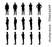 Businessman Set Of Vector...