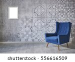 wall with different home... | Shutterstock . vector #556616509
