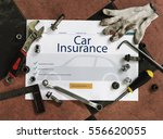 insurance coverage mix... | Shutterstock . vector #556620055