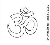 om symbol sign line icon on... | Shutterstock .eps vector #556621189