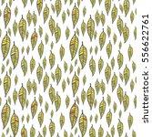 hand drawn leaves seamless... | Shutterstock .eps vector #556622761