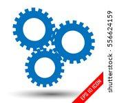 three simple gears. gears logo. ... | Shutterstock .eps vector #556624159