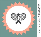 tennis racket ball vector icon. ... | Shutterstock .eps vector #556626595