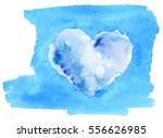atercolor sketch of heart from... | Shutterstock . vector #556626985