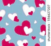seamless vector pattern sewn... | Shutterstock .eps vector #556627207