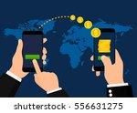 sending and receiving money... | Shutterstock .eps vector #556631275