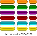 long and short oval buttons. | Shutterstock .eps vector #55663162