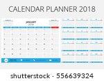 calendar planner 2018  size 6x8 ... | Shutterstock .eps vector #556639324