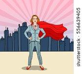 pop art confident business... | Shutterstock .eps vector #556639405