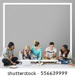 creativity together idea... | Shutterstock . vector #556639999