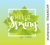 hello spring. lettering with...   Shutterstock .eps vector #556640149