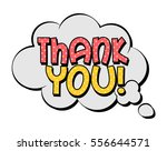 thank you speech bubble in... | Shutterstock .eps vector #556644571