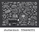 gadget icons vector set. hand... | Shutterstock .eps vector #556646551