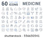 set vector line icons  sign in... | Shutterstock .eps vector #556650541