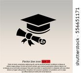 web icon. student cap with... | Shutterstock .eps vector #556651171