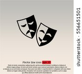 web icon. theater masks  comedy ... | Shutterstock .eps vector #556651501