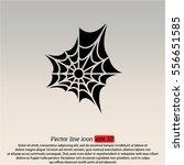 web line icon. spiderweb  web... | Shutterstock .eps vector #556651585