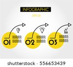three yellow arcs  infographic... | Shutterstock .eps vector #556653439