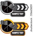 crossed checkered flags white... | Shutterstock .eps vector #55665859