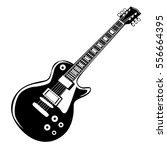 guitar isolated on white vector ... | Shutterstock .eps vector #556664395
