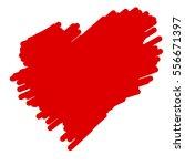 valentine heart freehand... | Shutterstock .eps vector #556671397