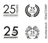 25 years anniversary set.... | Shutterstock .eps vector #556672489