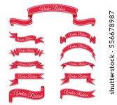 set of red vector banner... | Shutterstock .eps vector #556678987
