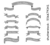 set of grey vector banner... | Shutterstock .eps vector #556679341