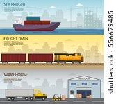 logistics infographic elements... | Shutterstock .eps vector #556679485