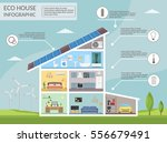ecology home infographic... | Shutterstock .eps vector #556679491