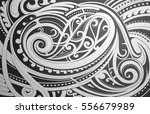 maori style ethnic ornament as... | Shutterstock .eps vector #556679989