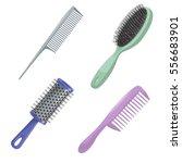 cartoon trendy design haircare...   Shutterstock .eps vector #556683901
