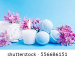 beauty spa  bath bomb  aroma...   Shutterstock . vector #556686151