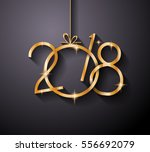 2018 happy new year background... | Shutterstock .eps vector #556692079