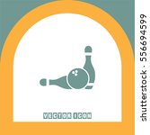 bowling pin vector icon.... | Shutterstock .eps vector #556694599