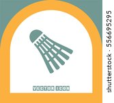 badminton vector icon. leisure... | Shutterstock .eps vector #556695295