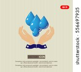 care of water   vector  icon